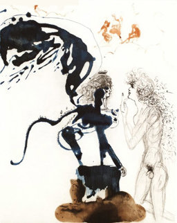 Oedipe Et Le Sphinx (oedipus and the Sphinx) 1960 (early) Limited Edition Print by Salvador Dali