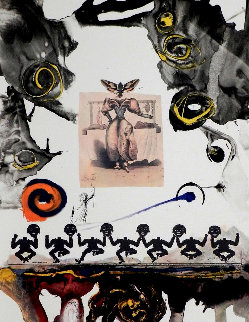 Memories of Surrealism: Surrealist Gastronomy 1971 (Early) Limited Edition Print - Salvador Dali