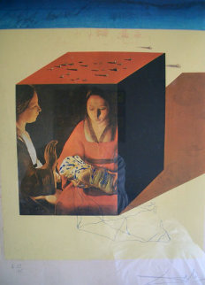 Caring for a Surrealistic Watch 1971 Limited Edition Print by Salvador Dali