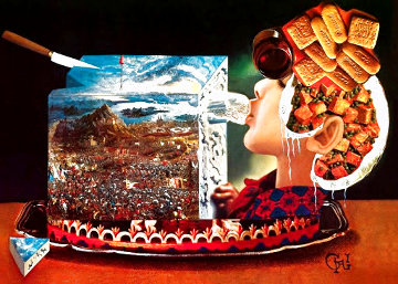 Diners De Gala 1977 Limited Edition Print - Salvador Dali