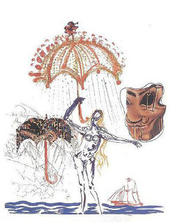 Objects and Imaginations Suite - Anti-Umbrella with Atomized Liquids 1975 Limited Edition Print by Salvador Dali
