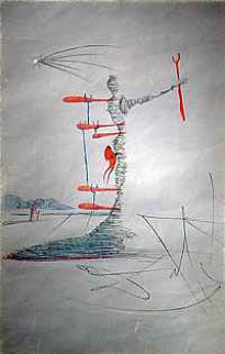 La Femme Dans Le Cosmos Dominating the World 1957 (Early) Limited Edition Print by Salvador Dali