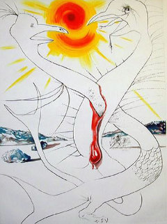 Mars and Jupiter EA 1974 Limited Edition Print - Salvador Dali