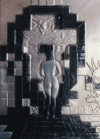 Lincoln in Dalivision Platinum Bas Relief 1979 Sculpture by Salvador Dali - 0