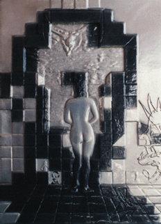 Lincoln in Dalivision Platinum Bas Relief 1979 Sculpture by Salvador Dali