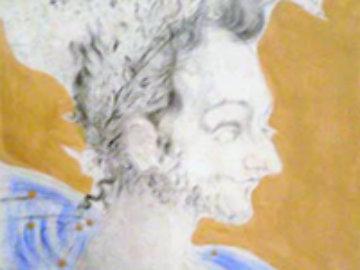 Les Amours De Cassandre Portrait De Ronsard 1968 (Early) Limited Edition Print - Salvador Dali
