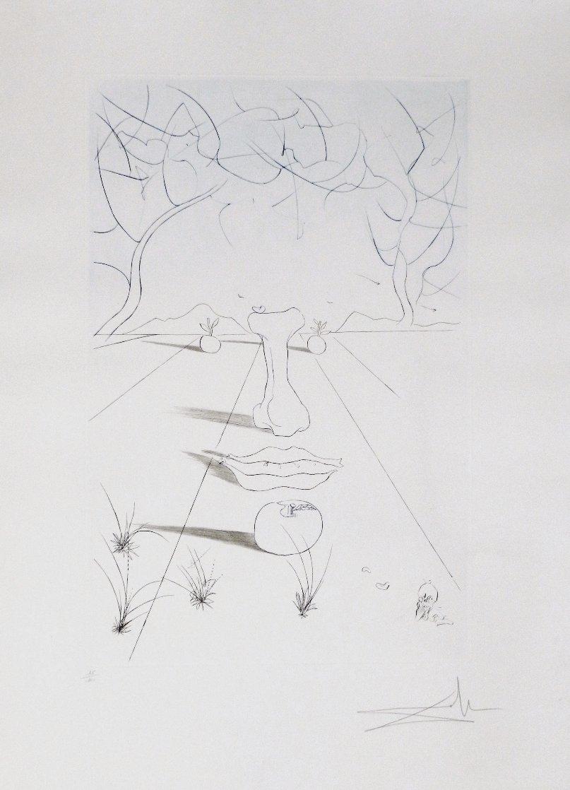 Aurelia Visage Surrealist 1972 Limited Edition Print by Salvador Dali