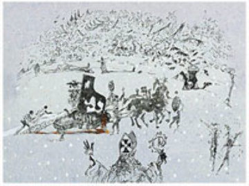 Tauramachies Surrealiste the Piano in the Snow 1970 (Early) Limited Edition Print - Salvador Dali
