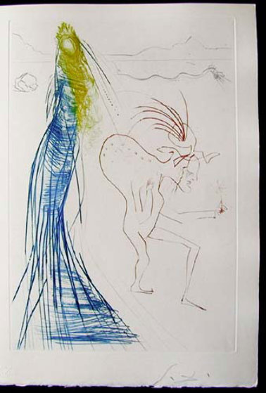Tristan Et Iseult Frocin, the Bad Dwarf 1970 (Early) Limited Edition Print by Salvador Dali
