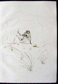 Tristan Et Iseult Brother Ogrin, the Hermit 1970 Limited Edition Print by Salvador Dali