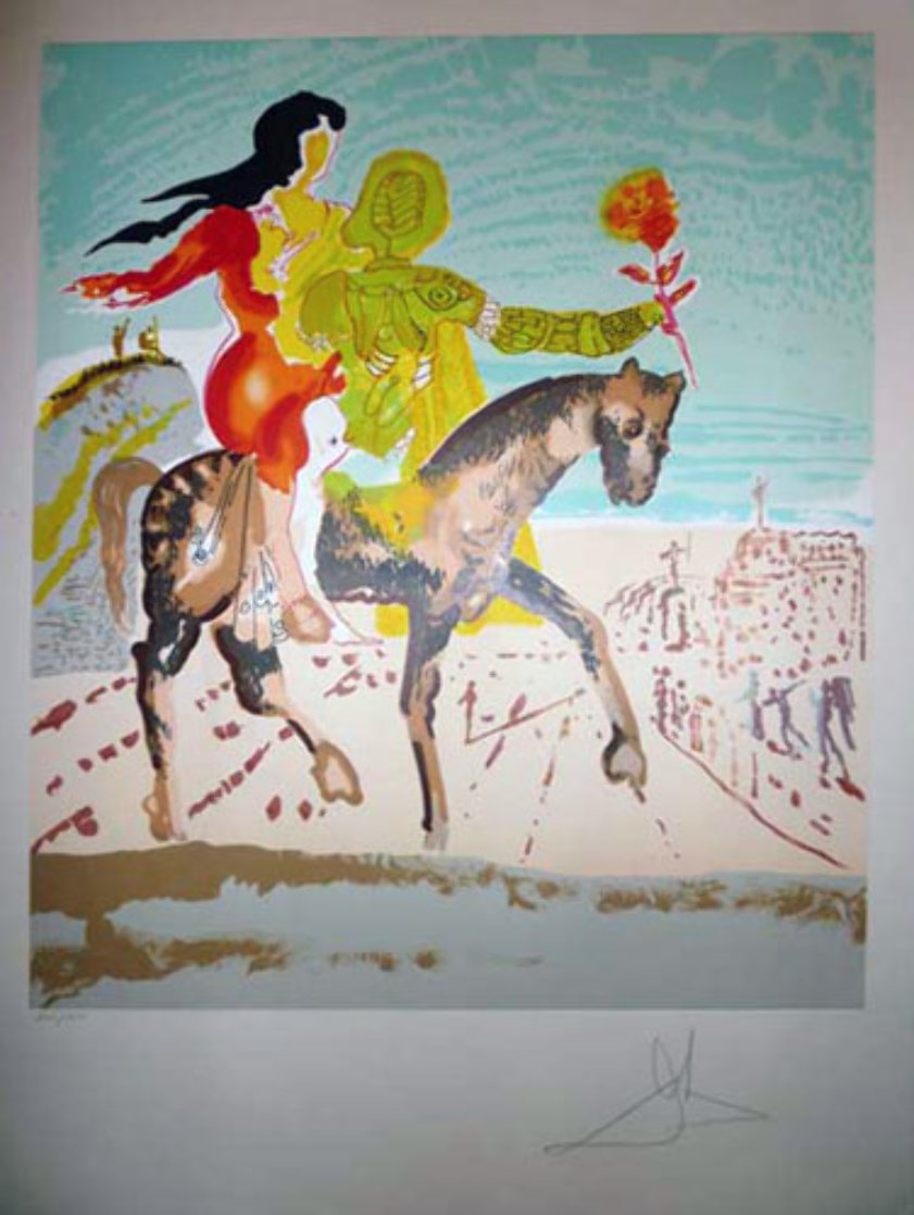 New Jerusalem Suite of 2  1980 Limited Edition Print by Salvador Dali