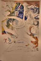 L 'unicorne Laser Desintegre Les Cornes De Rhino 1974 Limited Edition Print by Salvador Dali - 2