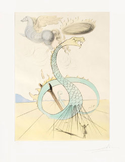 Dan (From 12 Tribes of Israel Suite) AP 1972 Limited Edition Print by Salvador Dali