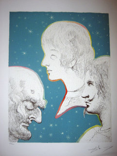 Marquis de Sade Merville and His Sons Reunited 1969 (Early) Limited Edition Print - Salvador Dali