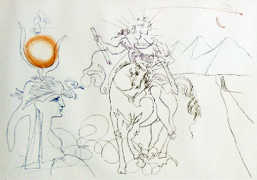 Caesar and Cleopatra 1972 Limited Edition Print - Salvador Dali