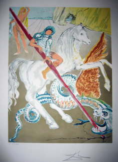 Lance of Chivalry St. George 1978 Limited Edition Print - Salvador Dali