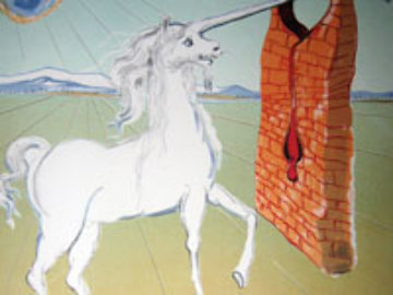 Agony of Love The Unicorn 1978 Limited Edition Print - Salvador Dali