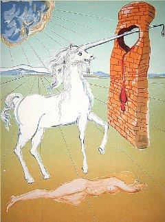 Agony of Love The Unicorn 1978 Limited Edition Print - Salvador Dali