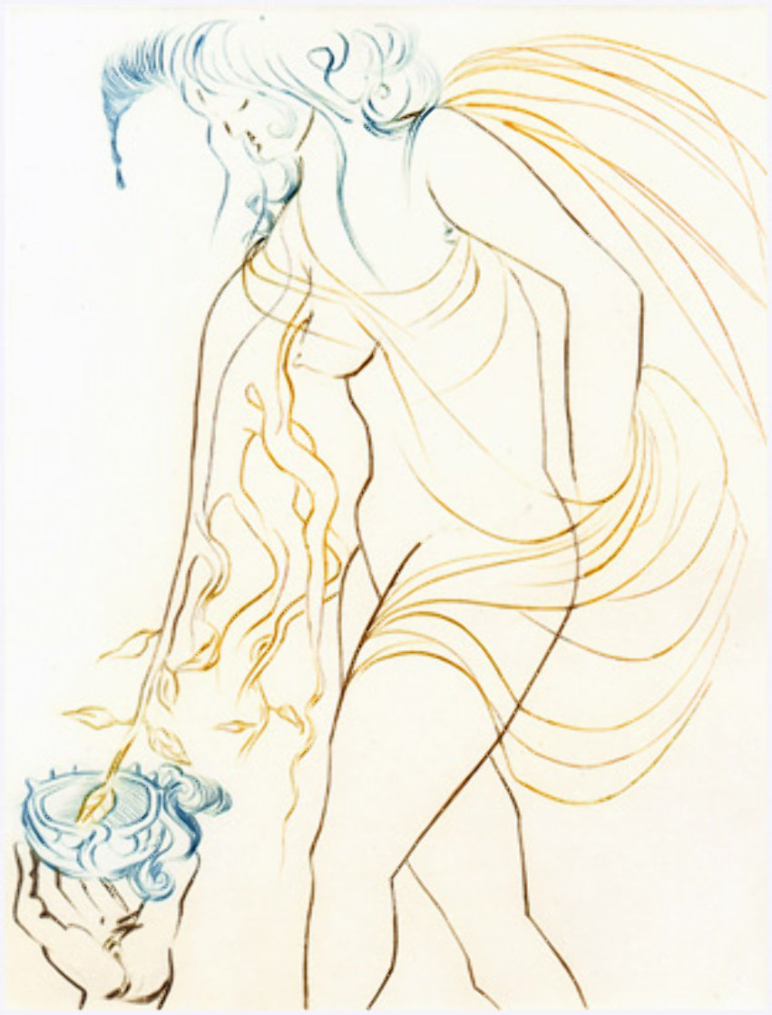 La Coupe Offerte, From Le Paradis Terrestre 1974 Limited Edition Print by Salvador Dali