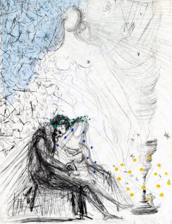 Le Couple a La Bougie (Couple with a Candle) 1968 (Early) Limited Edition Print by Salvador Dali