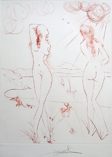 Espejo Vivo, Lebender Spiegel 1973 Limited Edition Print - Salvador Dali