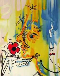 Fleurs Surrealistes Suite of 2 Lithographs Limited Edition Print by Salvador Dali