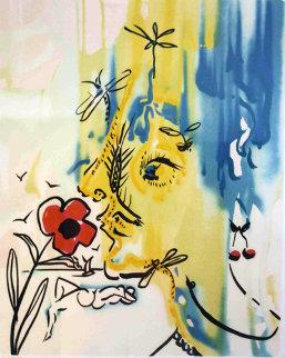 Fleurs Surrealistes Suite of 2 1976 Limited Edition Print by Salvador Dali