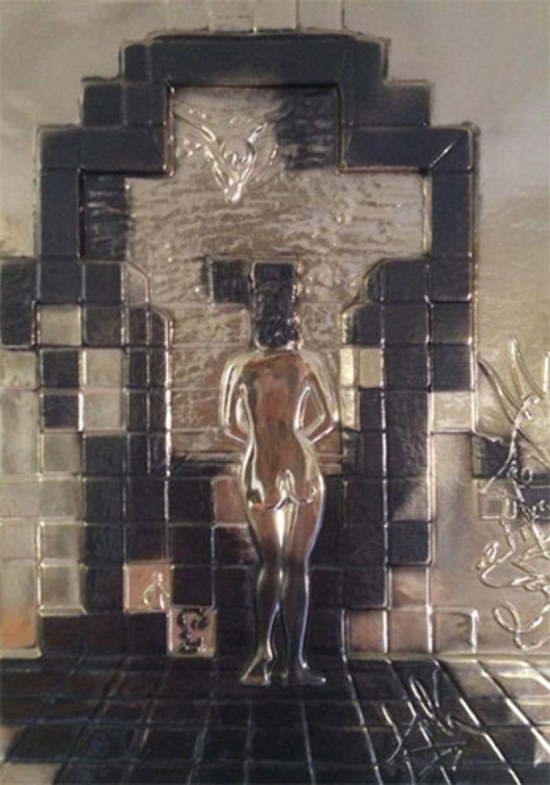 Lincoln in Dalivison Gold Sculpture 1979 Sculpture by Salvador Dali