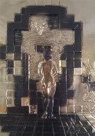 Lincoln in Dalivison Gold Sculpture 1979 Sculpture by Salvador Dali - 0