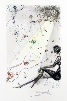 Song of Songs of Solomon: Looke Not Upon Mee That I Am Blacke: Because the Sonne Limited Edition Print by Salvador Dali