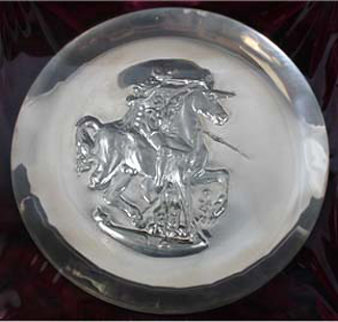 Unicorn Dyonisiaque Silver Plate 1971 Other - Salvador Dali