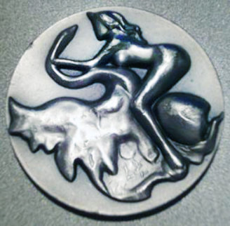Leda and the Swan Silver Medallion 2 in Jewelry - Salvador Dali