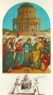 Changes in Great Masterpieces, Raphael, La Marriage De La Vierge 1974 Limited Edition Print by Salvador Dali