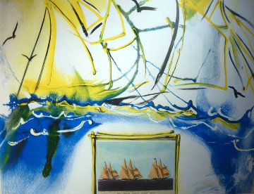 Currier and Ives Suite, American Yachting Scene 1971 Limited Edition Print - Salvador Dali