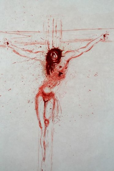 Christ (Sanguine) 1964 Limited Edition Print by Salvador Dali