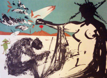 Peace in Vietnam, Liberation: Prisoners Are Free 1973 Limited Edition Print - Salvador Dali