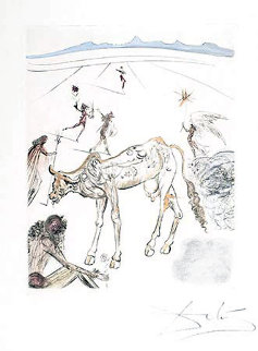 La Vache Sacree (Sacred Cow), 1970 (from The Hippies Suite) Limited Edition Print by Salvador Dali