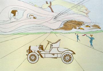Invention of the Automobile (Hommage a Leonardo Da Vinci) 1975 Limited Edition Print by Salvador Dali