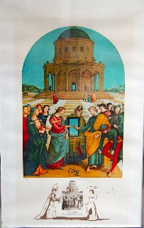 Changes in Great Masterpieces Raphael 1974 Limited Edition Print - Salvador Dali