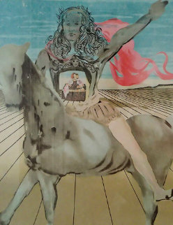 Chevalier Surrealiste 1980 Limited Edition Print - Salvador Dali