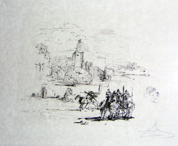 Road to Ampurdam (Rome And Cadaques)  1973 Limited Edition Print by Salvador Dali
