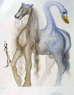 Dalinean Horses   Horace's Chimera 1972 Limited Edition Print by Salvador Dali