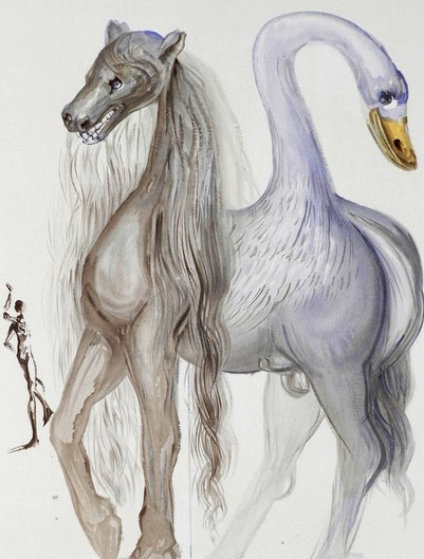 Dalinean Horses: Horace's Chimera 1972 Limited Edition Print by Salvador Dali