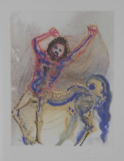 Dalinean Horses   Le Centaur De Crete (the Centaur 1972 Limited Edition Print - Salvador Dali