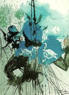 l'homme Et La Fleure 1973 Limited Edition Print - Salvador Dali