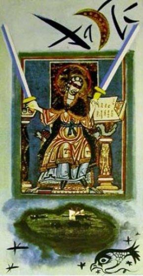 Two Of Swords Tarot Card 1978 By Salvador Dali