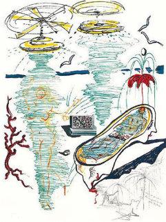 Objects and Imaginations Suite: Liquid Tornado Bathtub 1973 Limited Edition Print - Salvador Dali