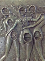 Three Graces Bas Relief Bronze Sculpture 1977 Sculpture by Salvador Dali - 1