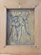 Three Graces Bas Relief Bronze Sculpture 1977 Sculpture by Salvador Dali - 3