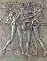Three Graces Bas Relief Bronze Sculpture 1977 Sculpture by Salvador Dali - 0